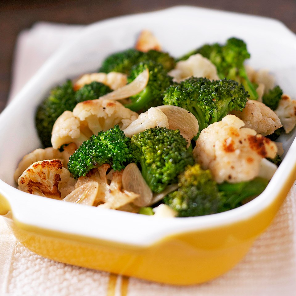 Broccoli and Cauliflower Sauté