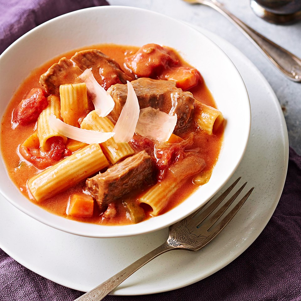 Pot Roast Rigatoni Stew