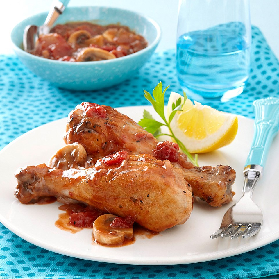 One Skillet Chicken Cacciatore