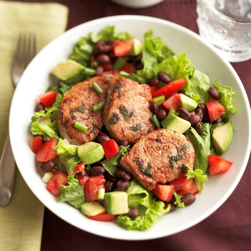 Lemon-Sage Pork Salad with Red Hot Pepper Vinaigrette