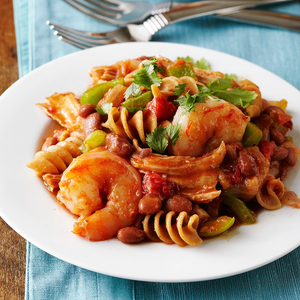 Cajun-Style Pork and Shrimp Pasta