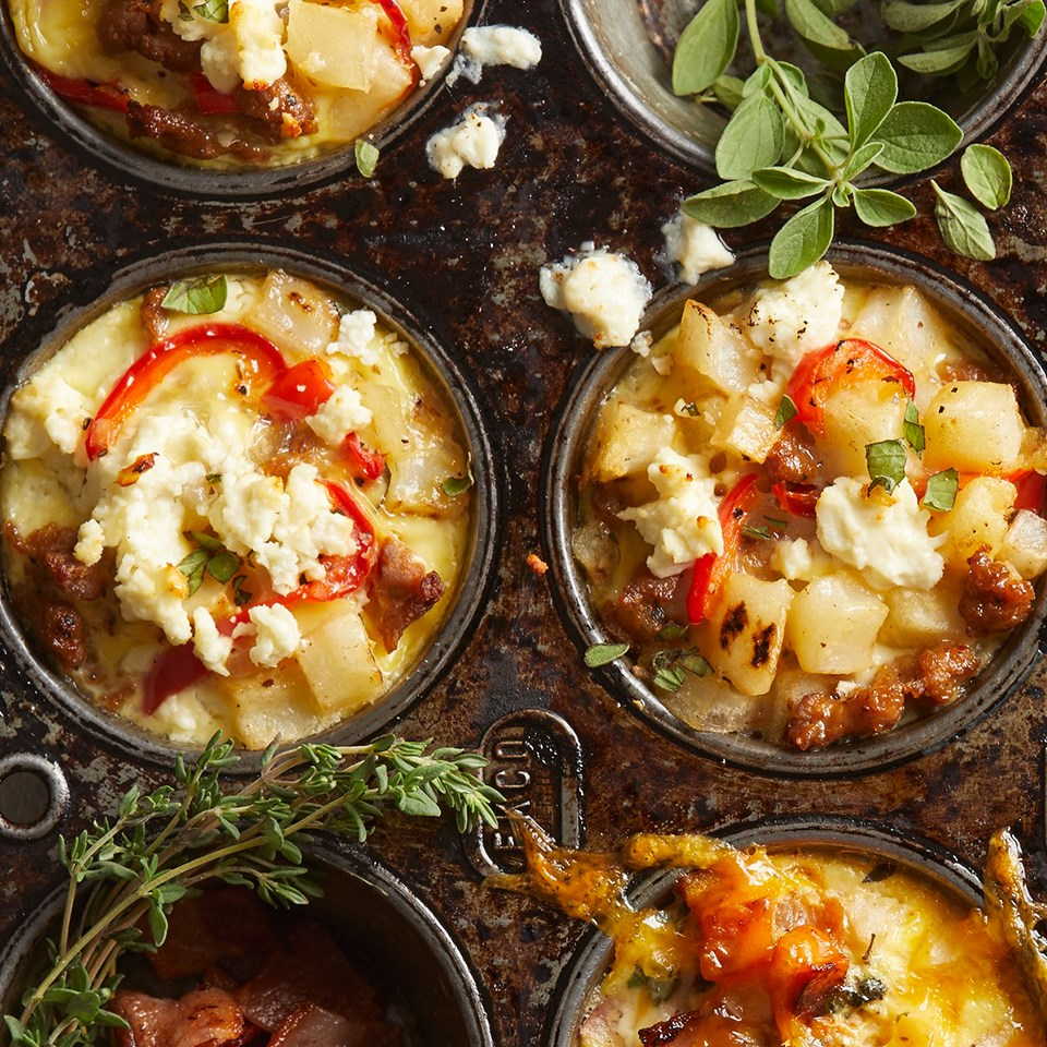 Sausage and Potato Casserole Cups