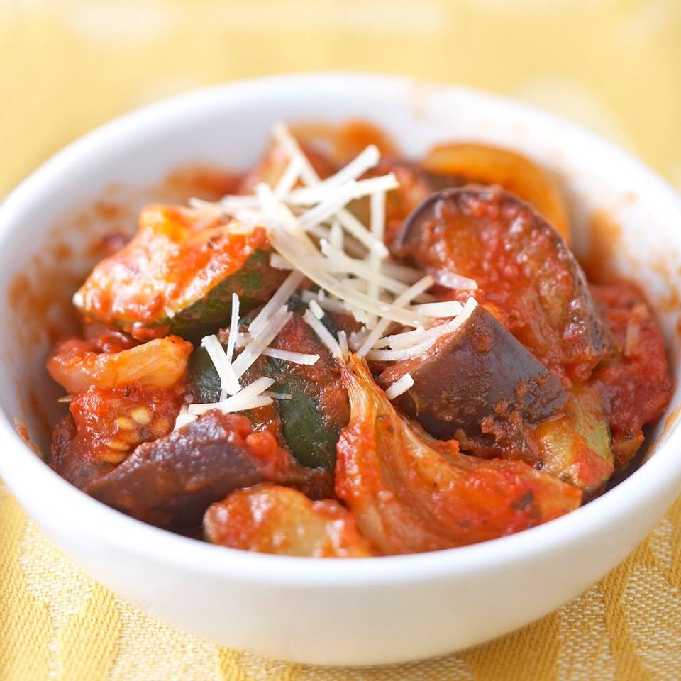 Eggplant-Zucchini Parmesan