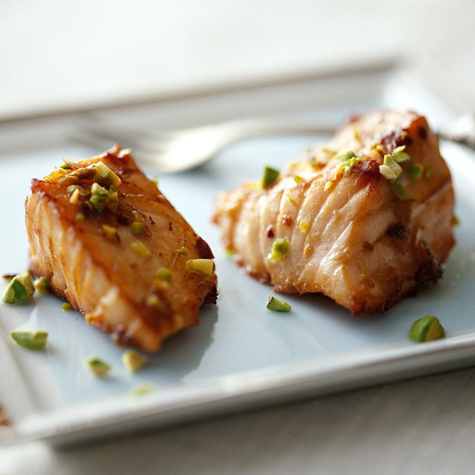 Pistachio Salmon Nuggets