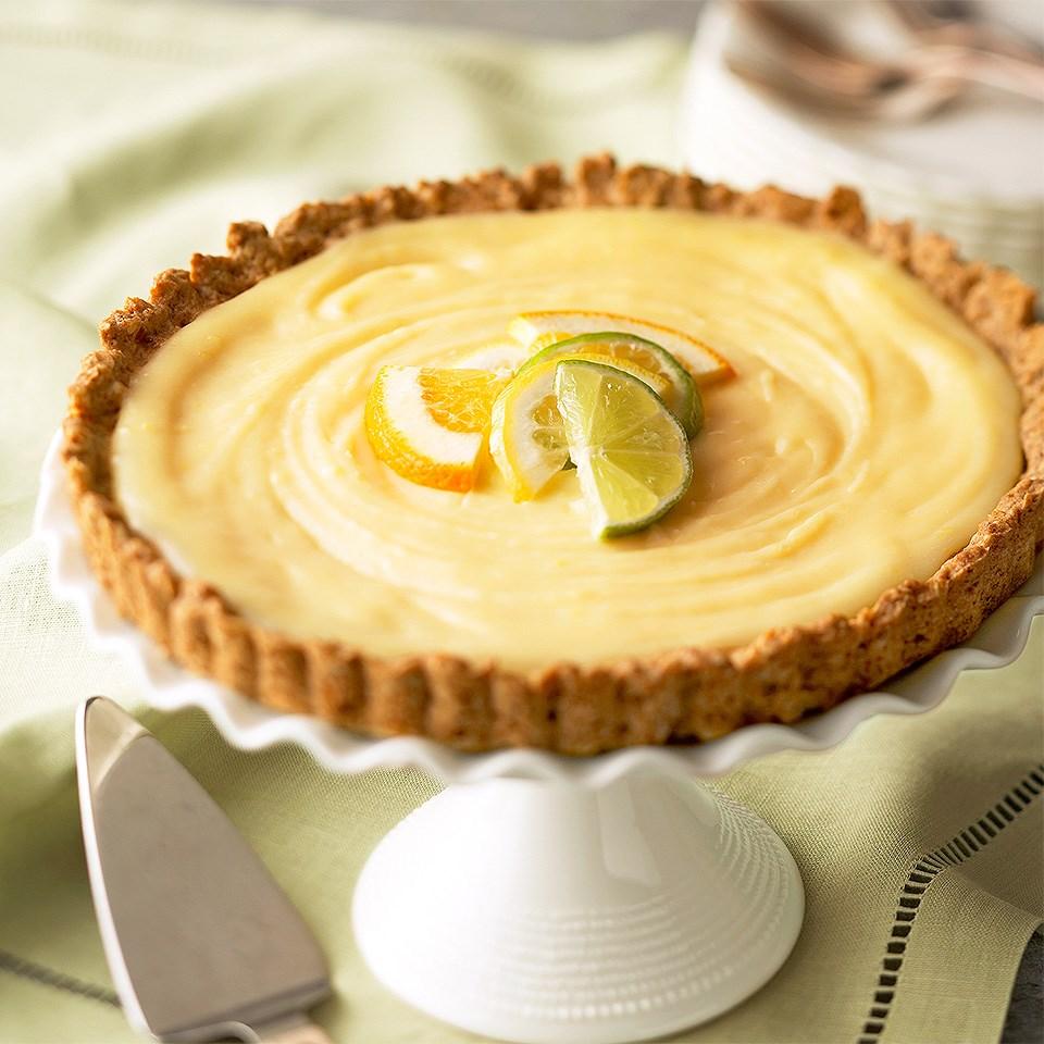 Lemon Tart with Ginger-Oat Crust