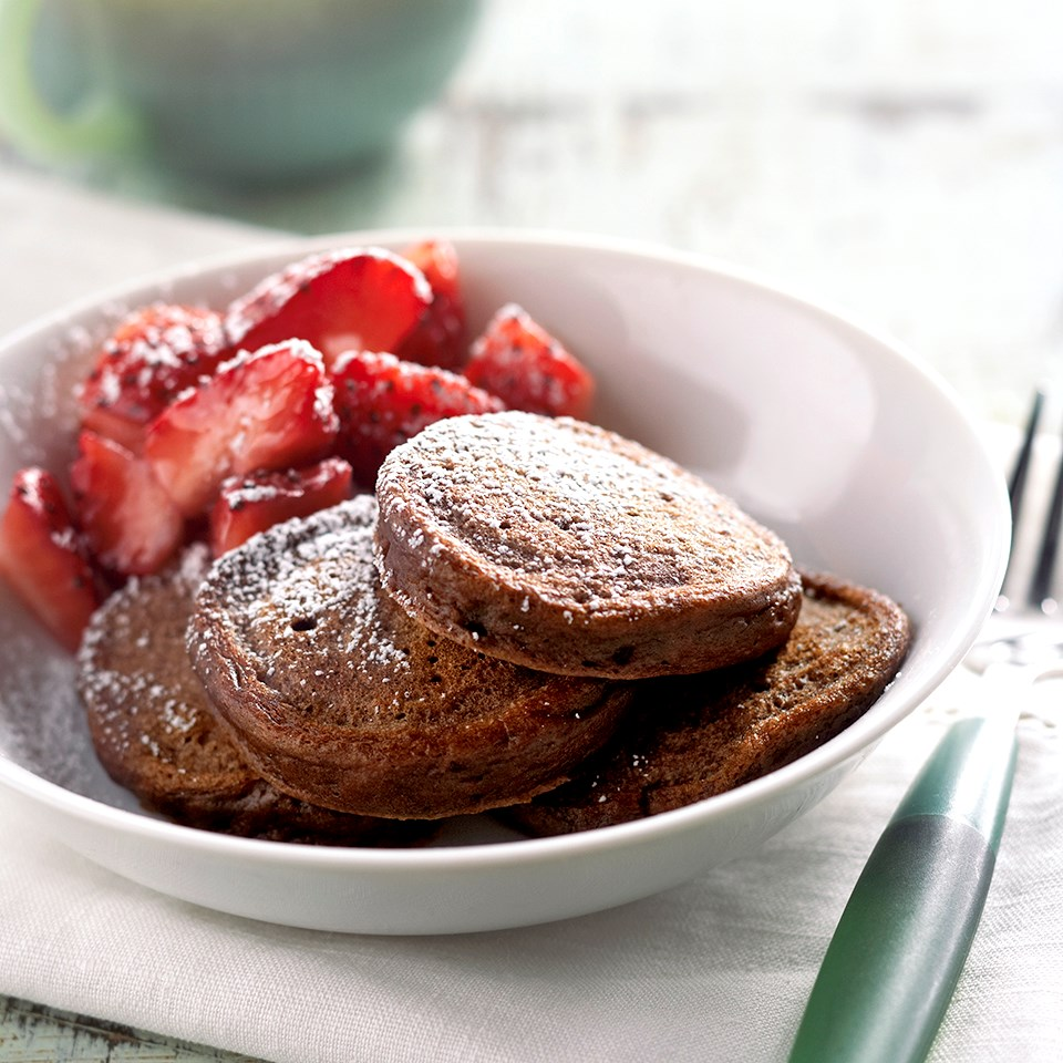 Mini Chocolate Pancakes