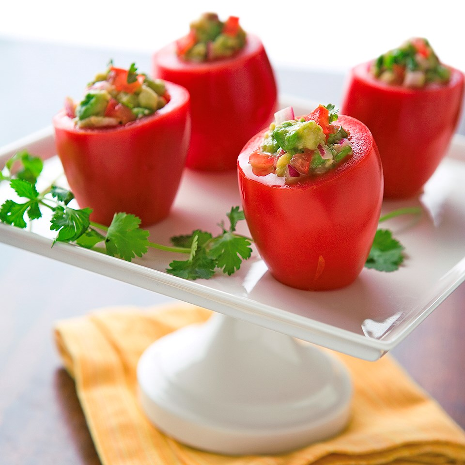 Guacamole-Stuffed Tomatoes