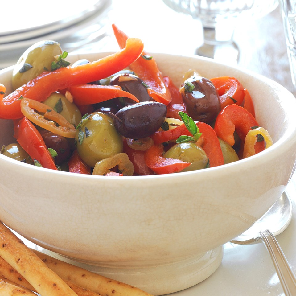 Herbed Peppers and Olives