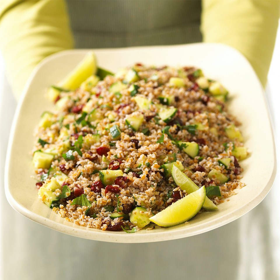 Cilantro Tabbouleh with Cranberries