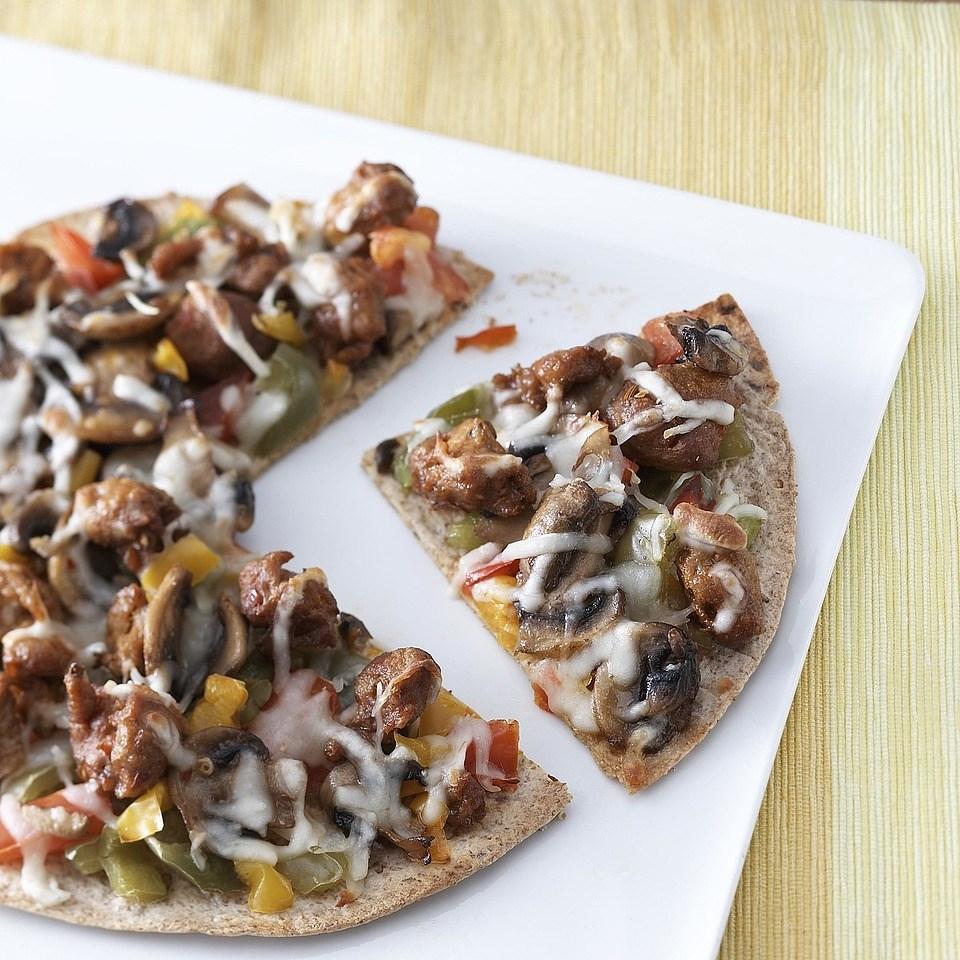 Mushroom-Sausage Flatbreads