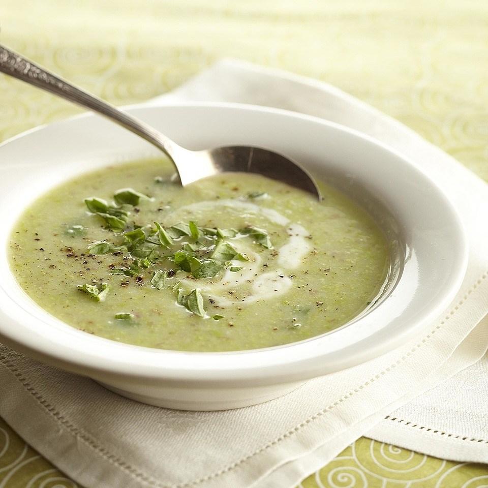 New Potato & Edamame Soup