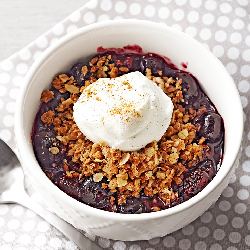 Microwave Blueberry Cobbler