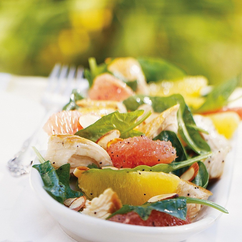 Citrus Turkey Spinach Salad