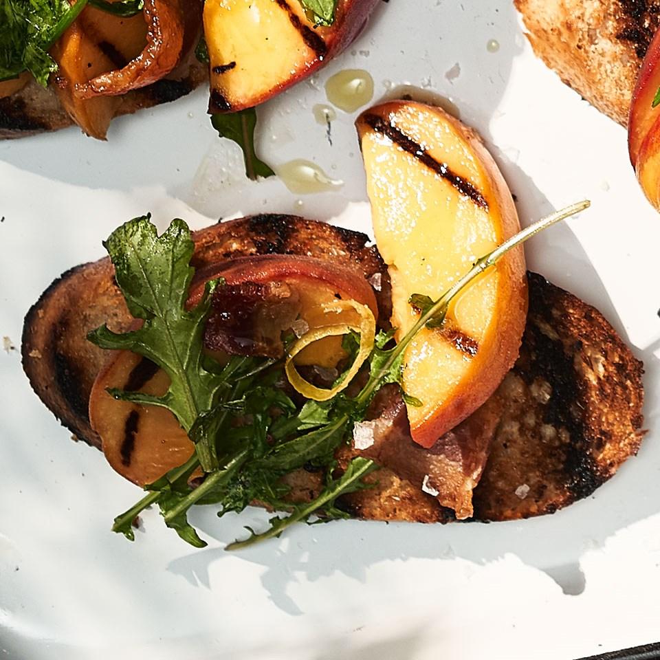 Peach & Bacon Crostini