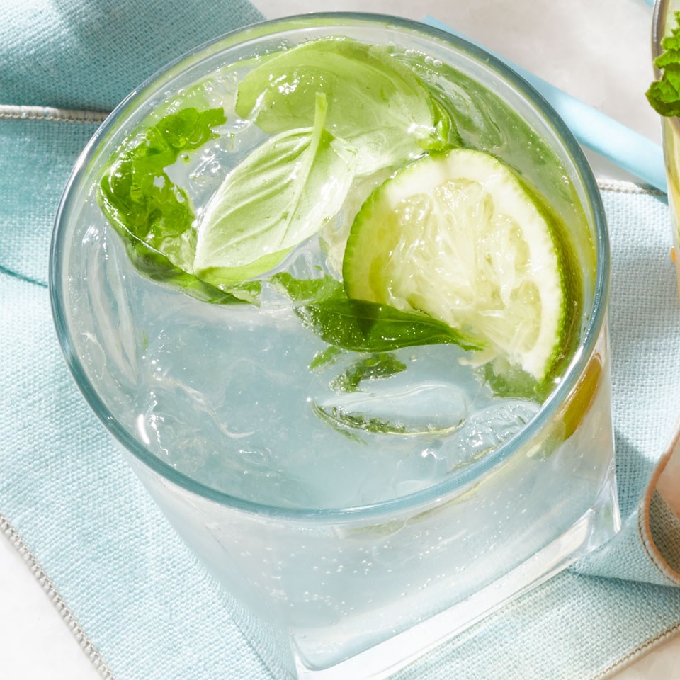 Basil Caipirioska Cocktail