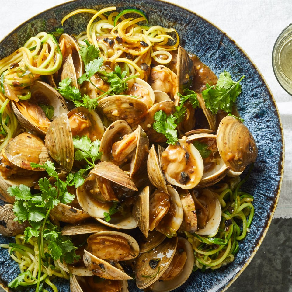 Black Bean Clams with Two Noodles