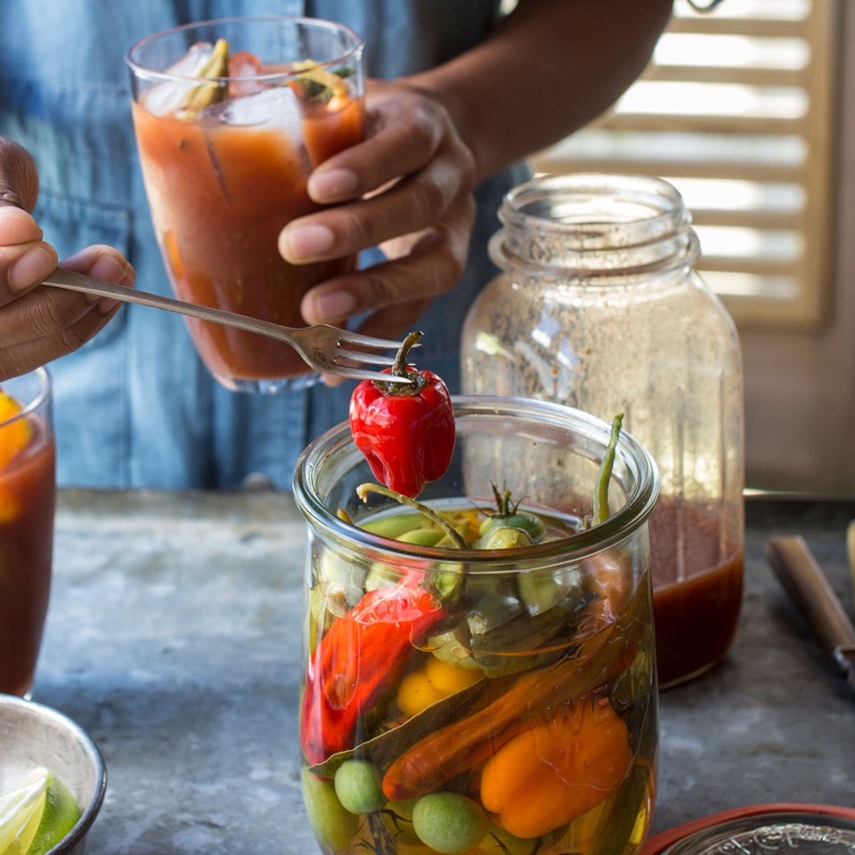 Bloody Mary Garnishes by the Jar