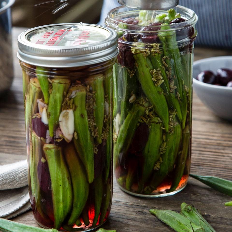 Olive-Cured Okra Pickles