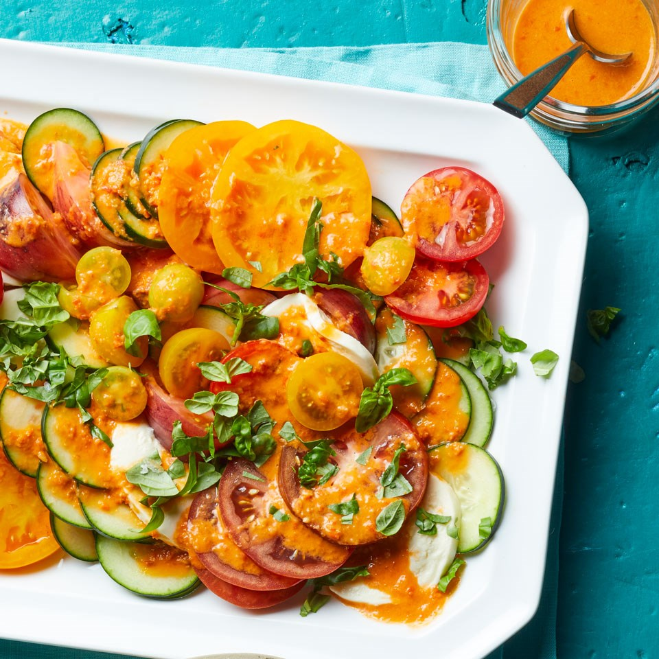 Heirloom Tomato Salad with Tomato Vinaigrette