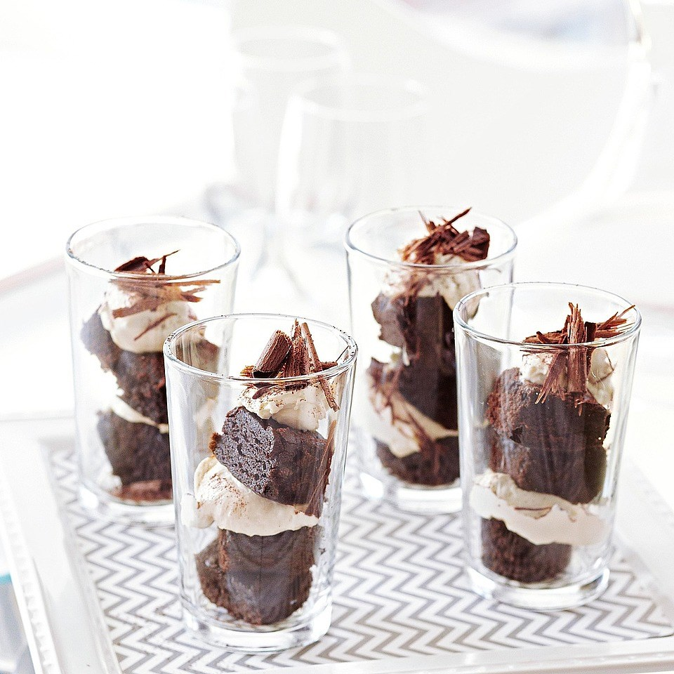 Tiramisu Brownie Parfaits