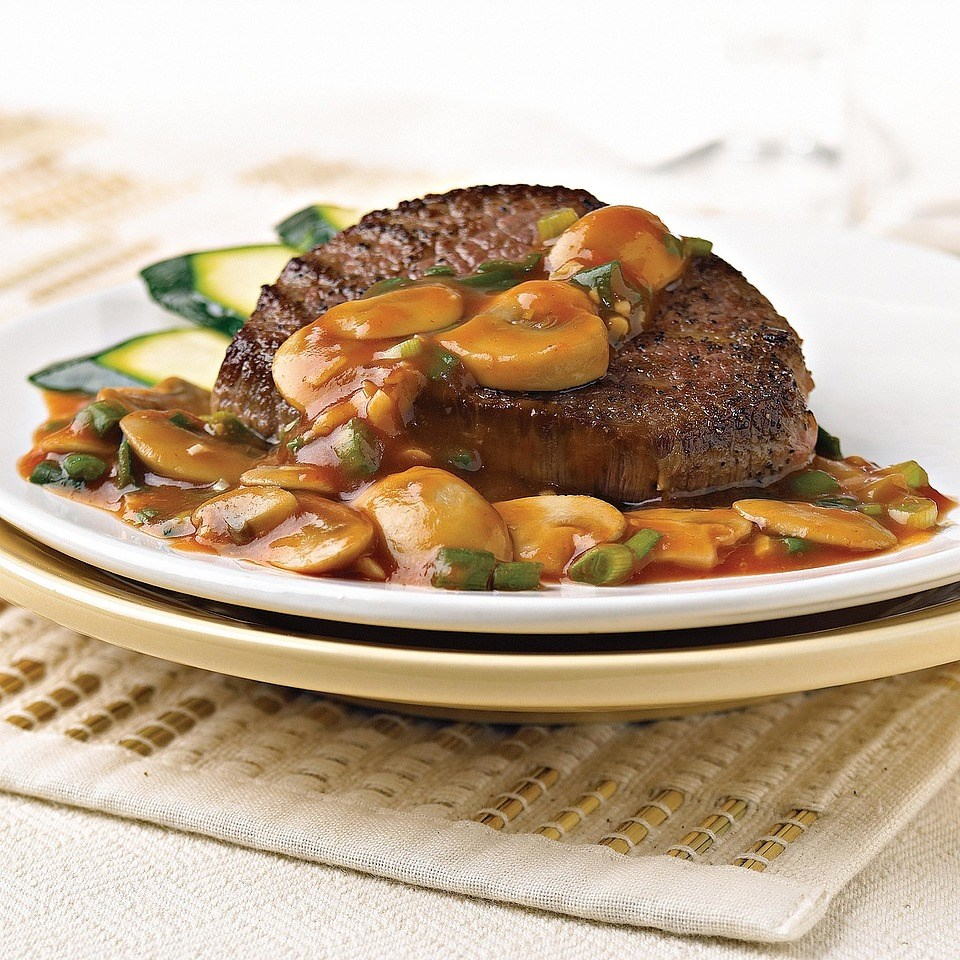 Beef with Mushroom Sauce