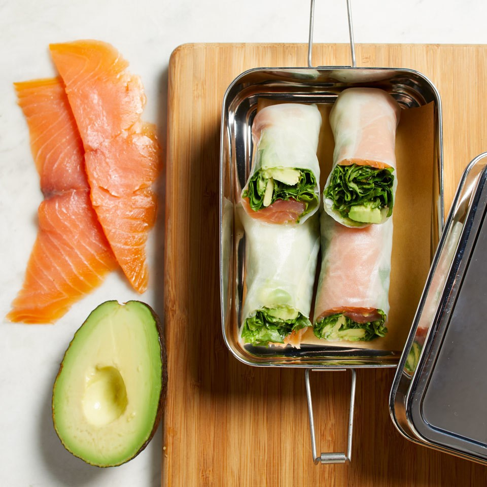Smoked Salmon & Avocado Spring Rolls