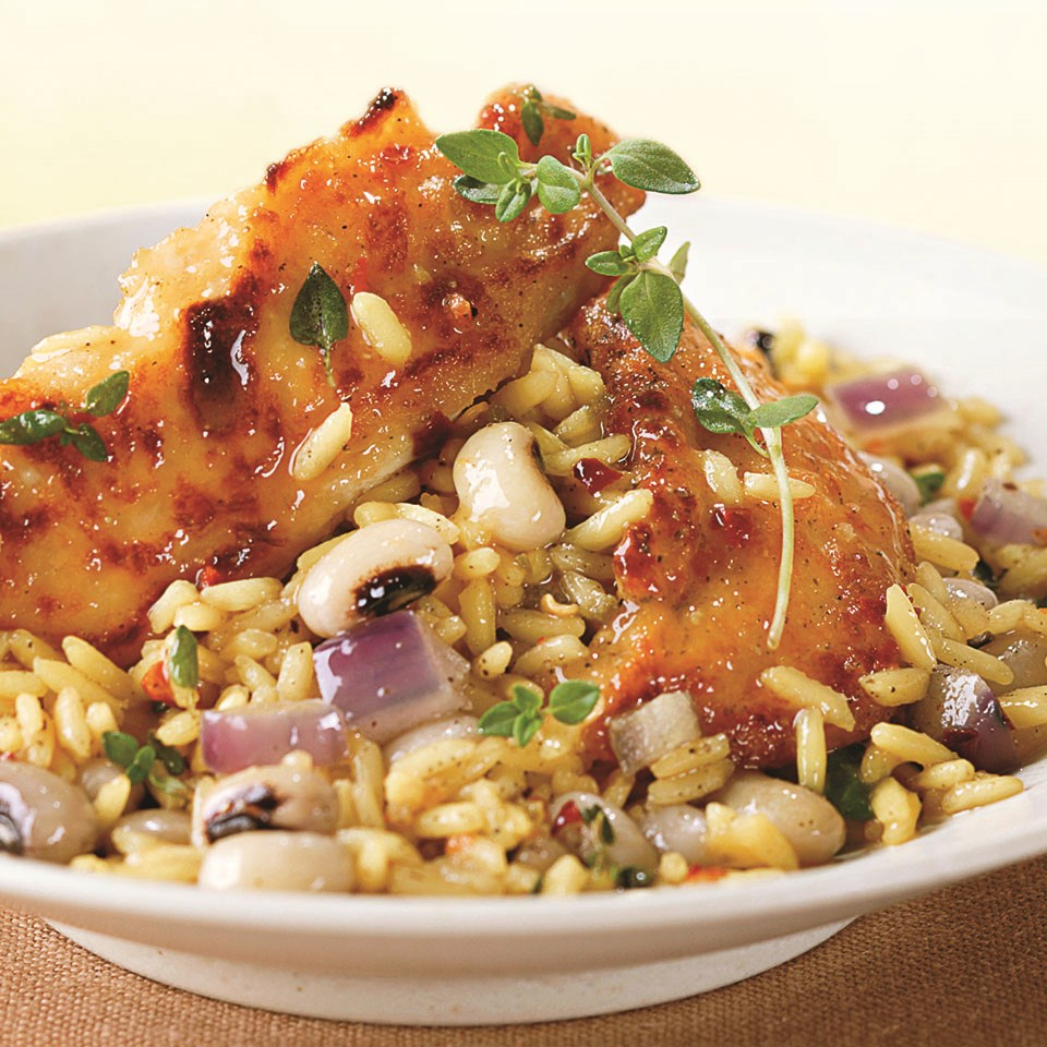 Chicken with Black-Eyed Peas and Yellow Rice