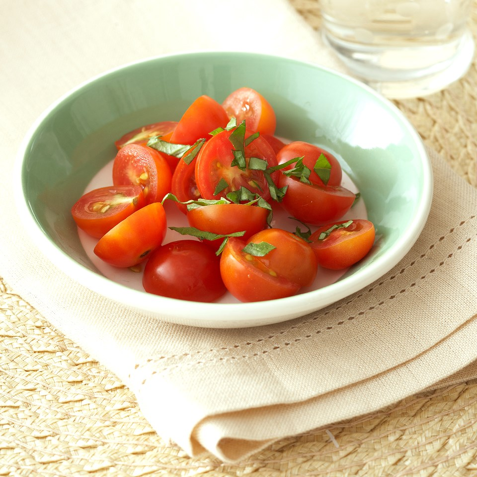 Quick Basil Tomatoes
