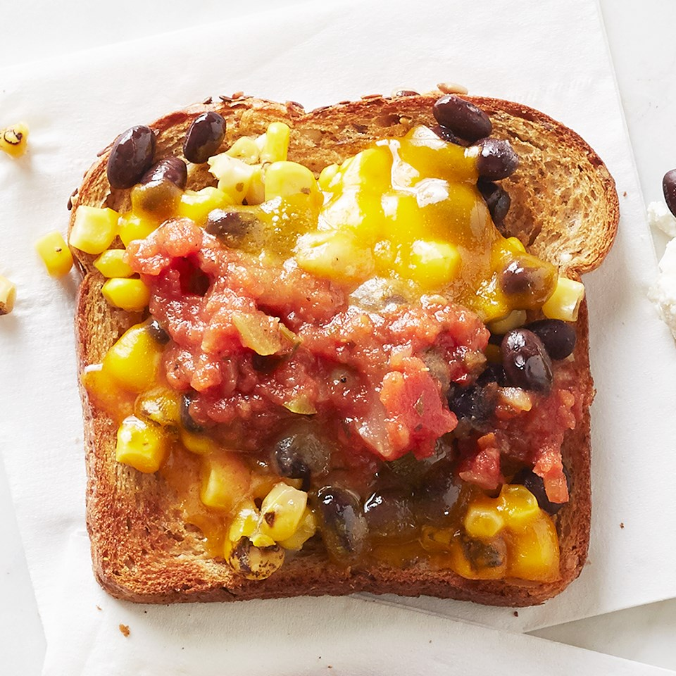 Cheddar and Roasted Corn Toast