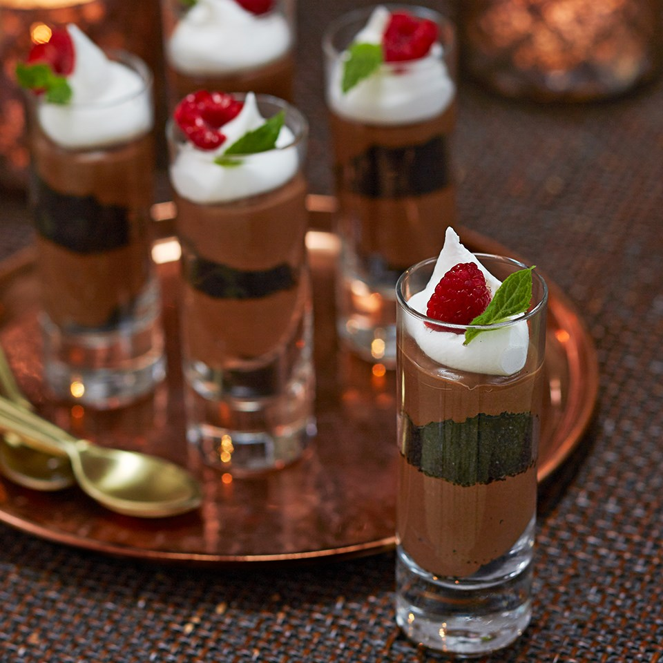 Mini Dark Chocolate-Mocha Mousses