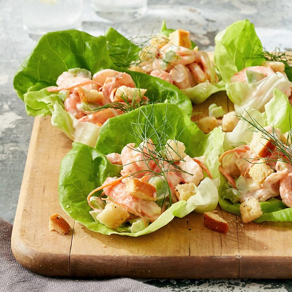 Shrimp Lettuce Rolls