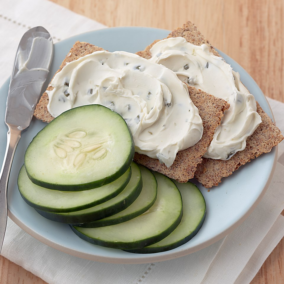 Cucumber-Topped Rye Crisps