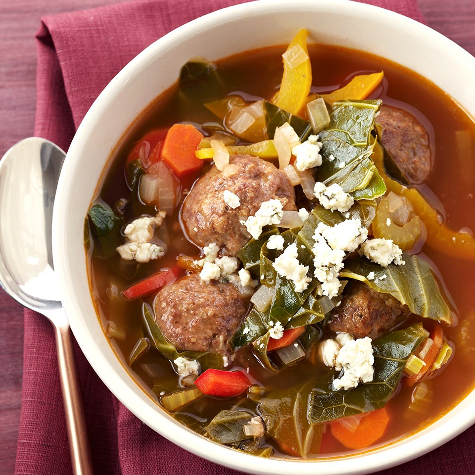 Barbecue Meatball Soup