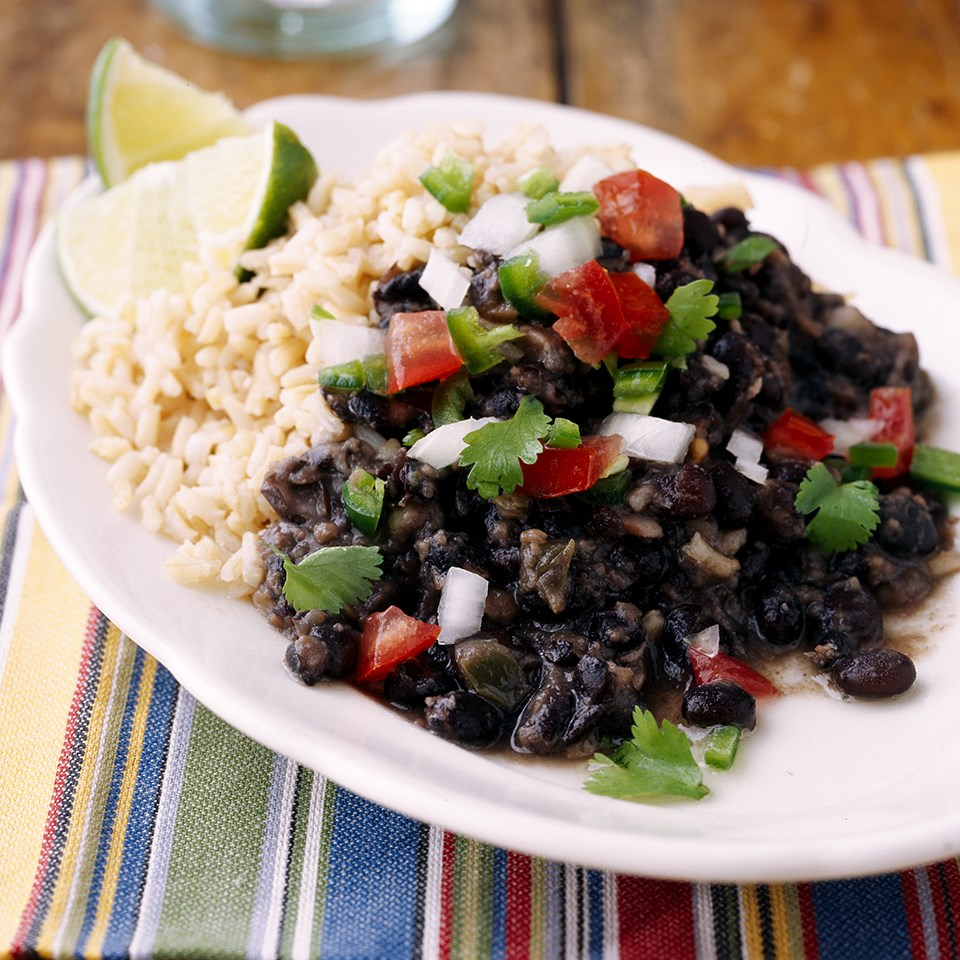 Cuban-Style Black Beans and Rice