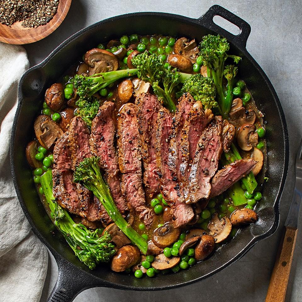 Skillet Steak With Mushroom Sauce Recipe Eatingwell