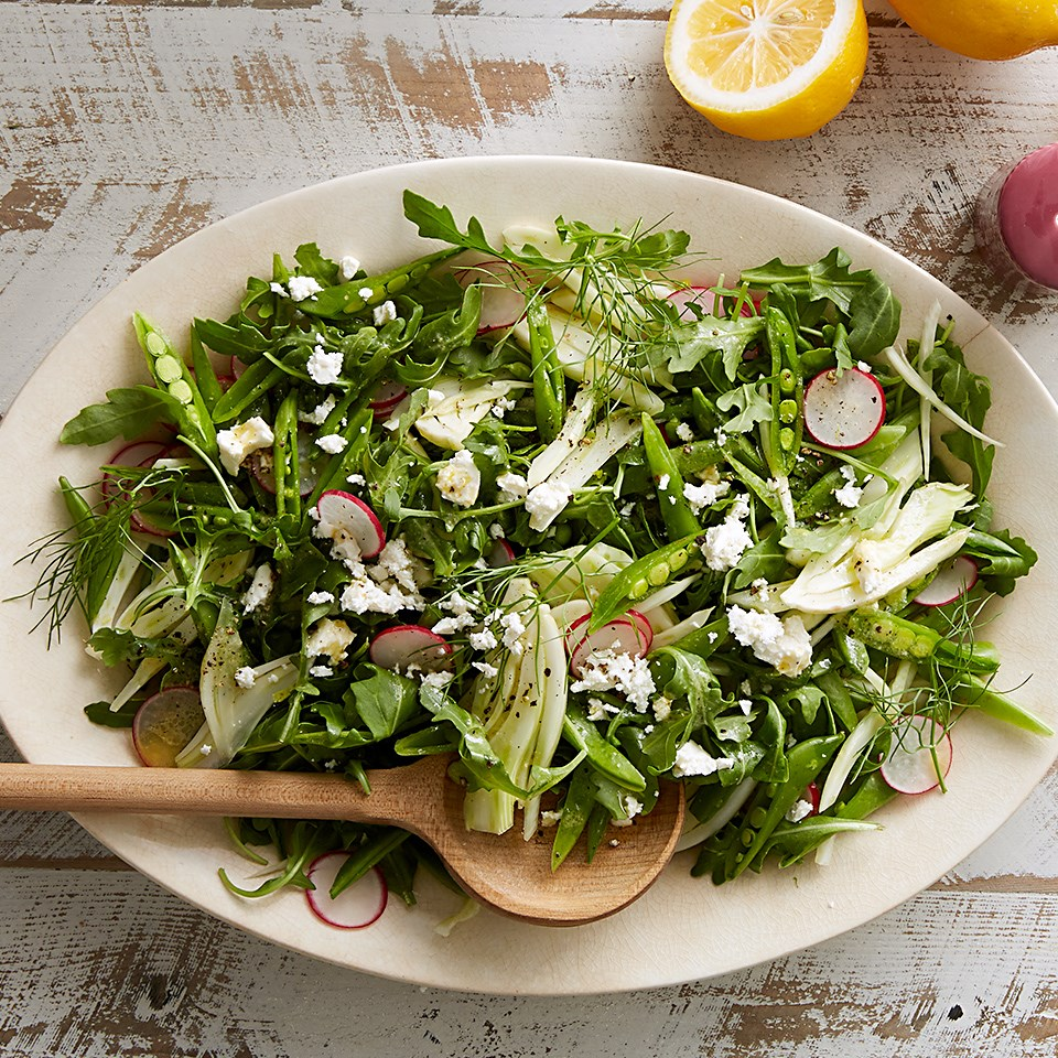 Snap Pea Salad with Lemon and Feta