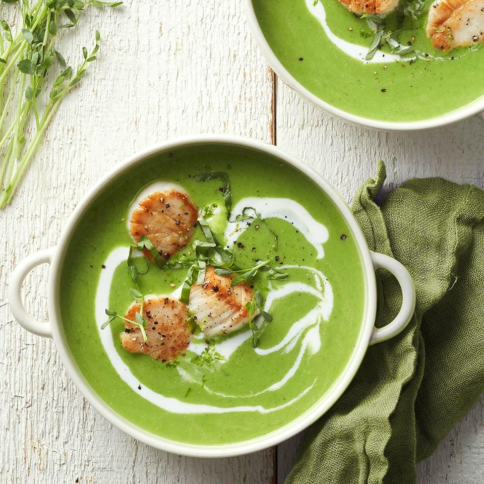 Coconut-Lime Pea Soup
