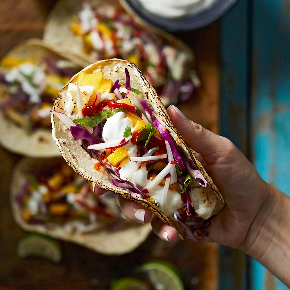 Mango-Lime Fish Tacos