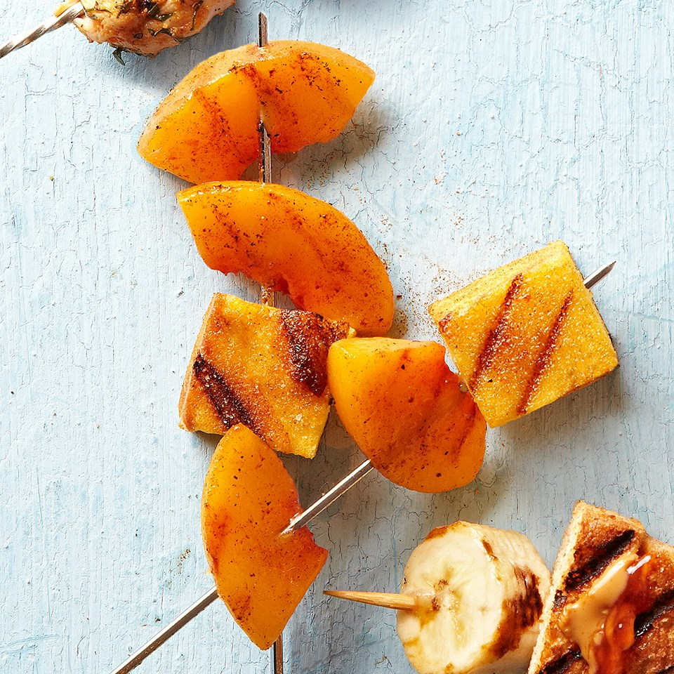 Peaches & Pound Cake Skewers