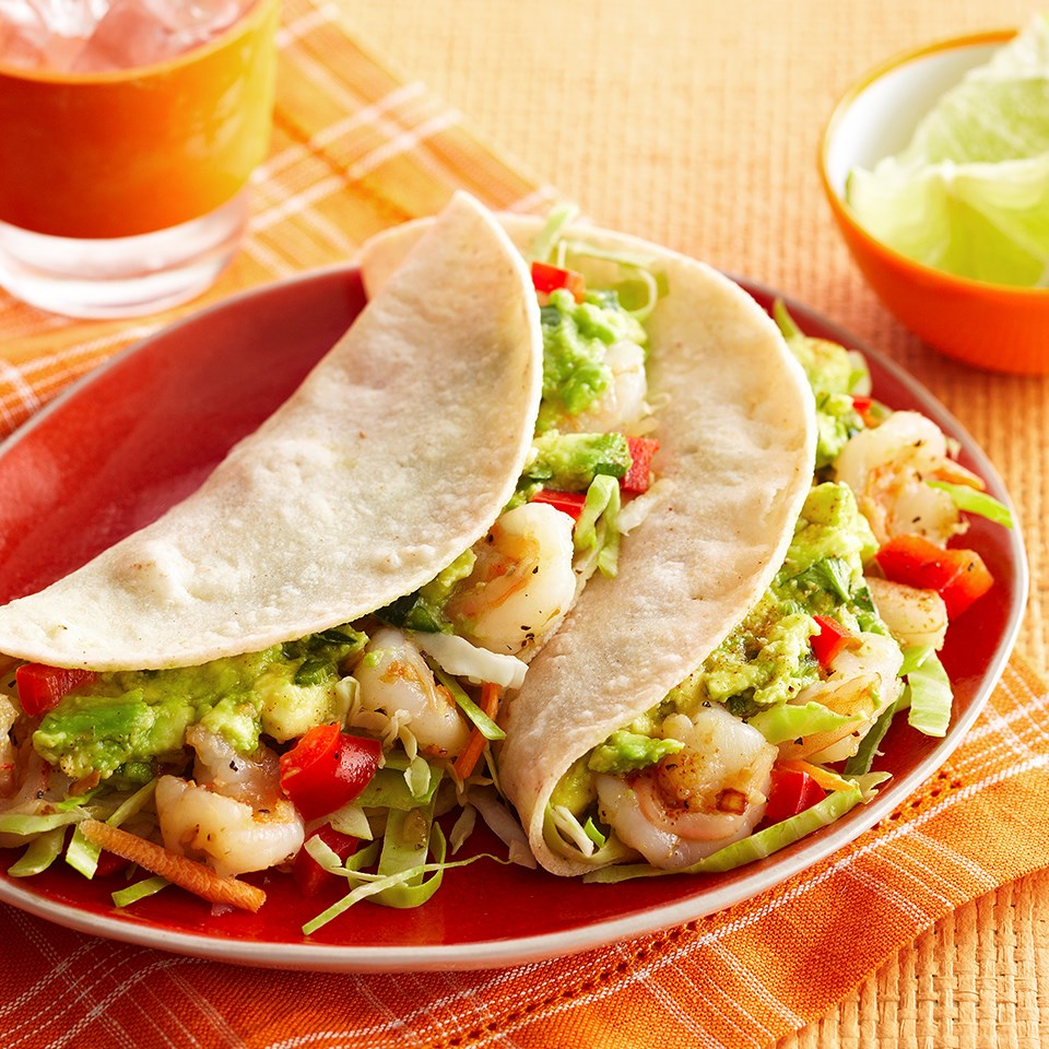 Shrimp Tacos with Avocado Topper