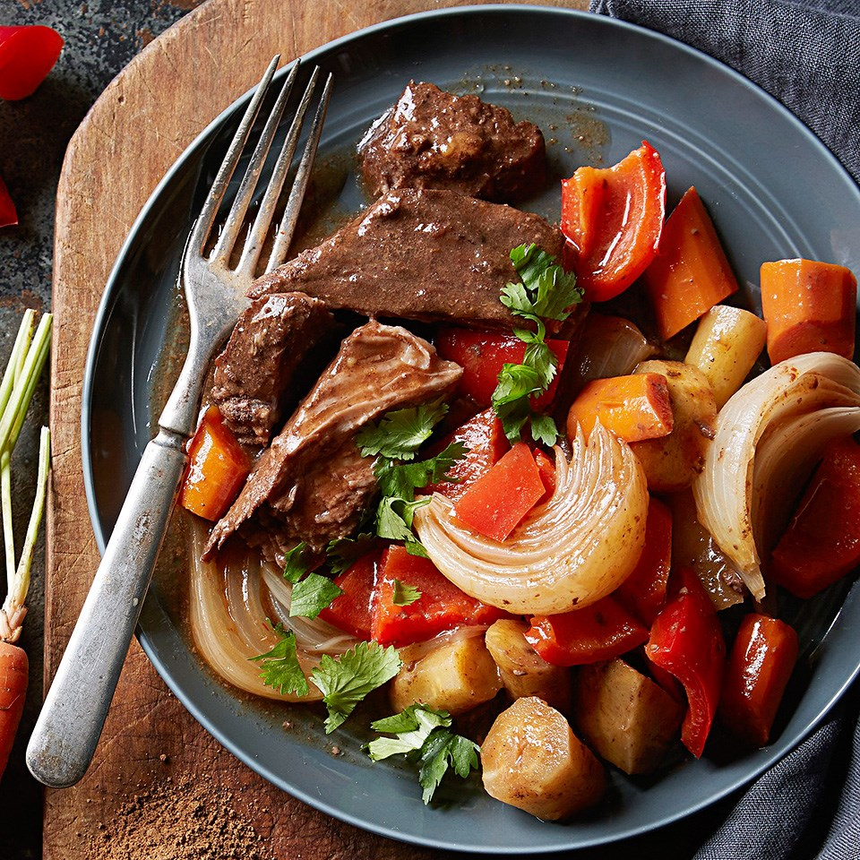 Moroccan-Spiced Pot Roast and Veggies