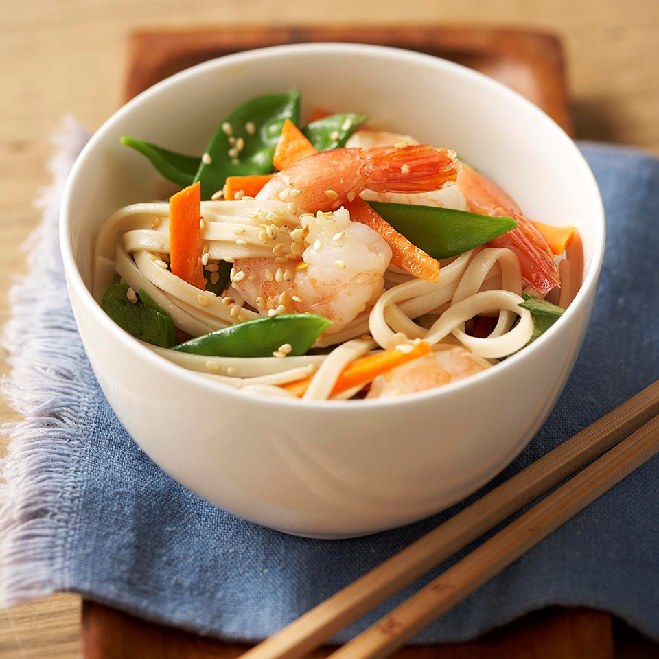 Asian Sesame Noodles with Shrimp