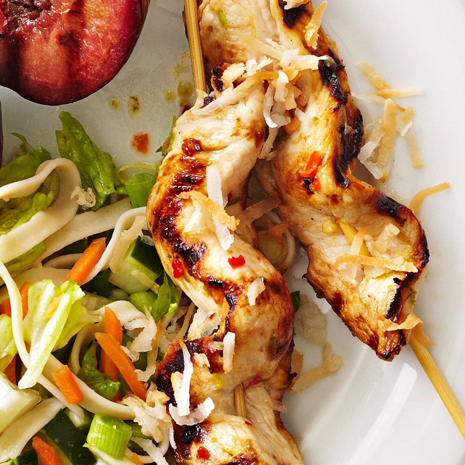 Coconut-Lime Turkey Skewers