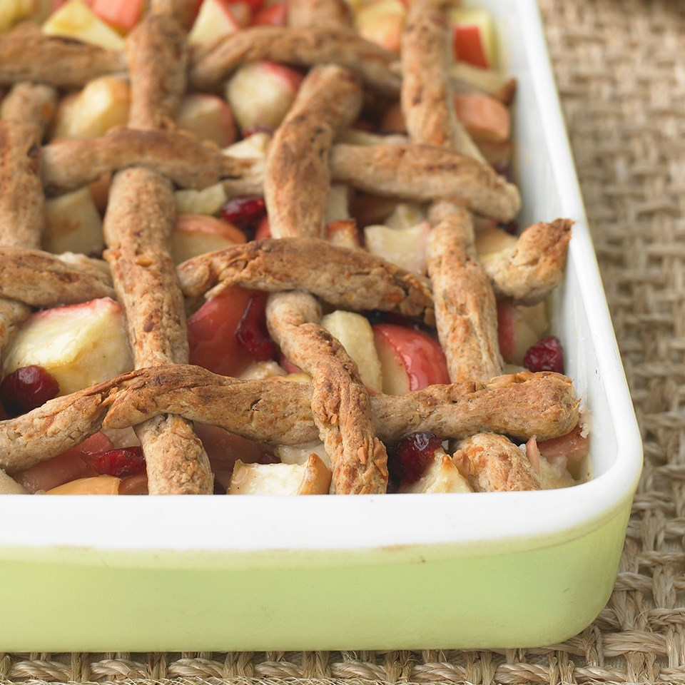 Cheddar-Walnut Apple Cobbler