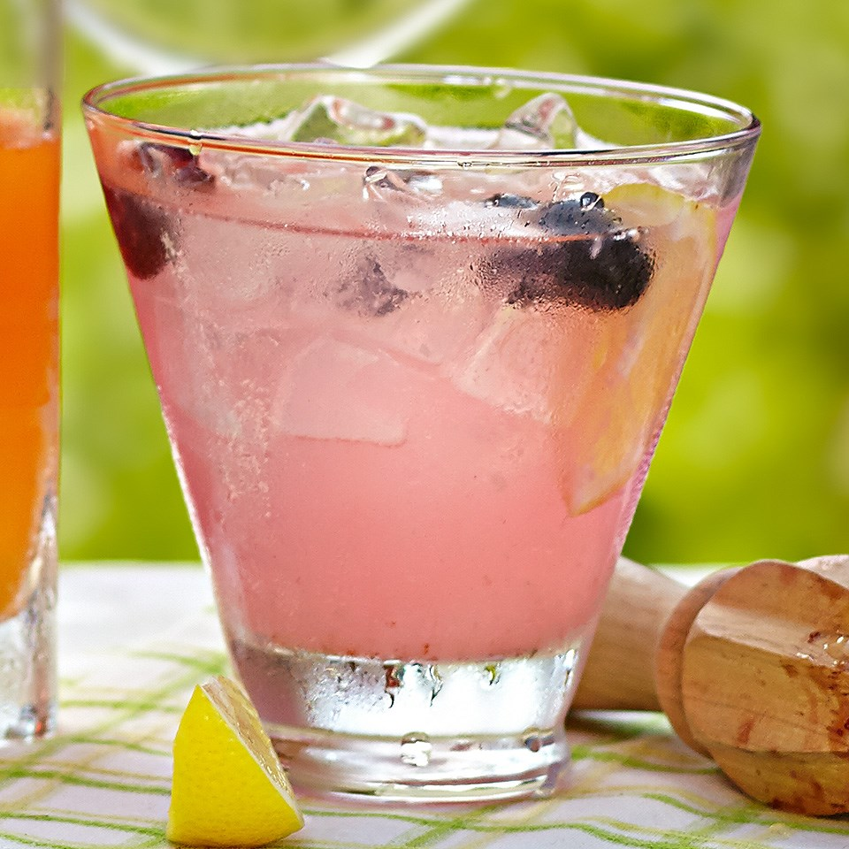 Blueberry Tom Collins