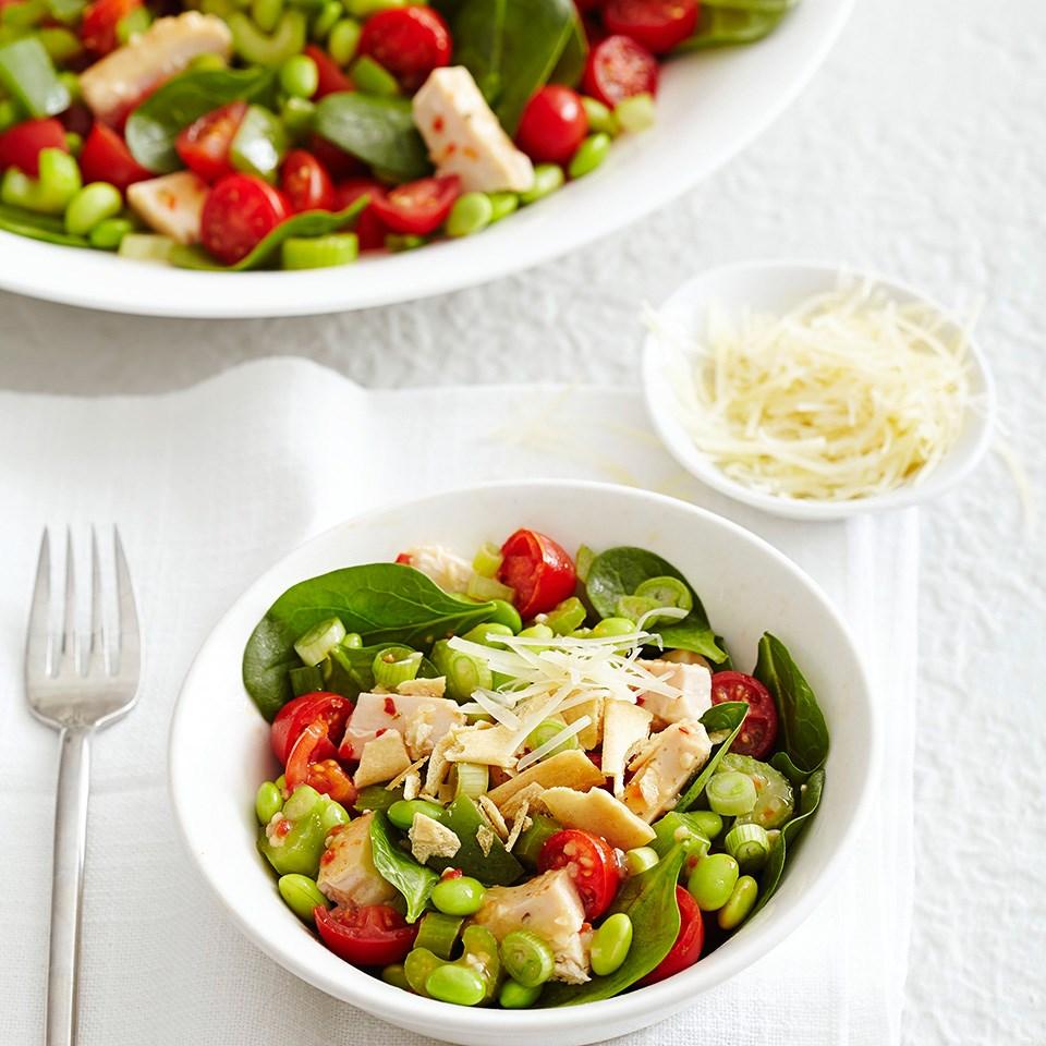 Sauteed Chicken and Edamame Salad