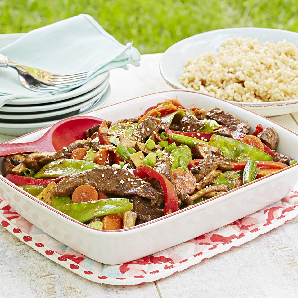 Beef and Spring Vegetable Stir-Fry