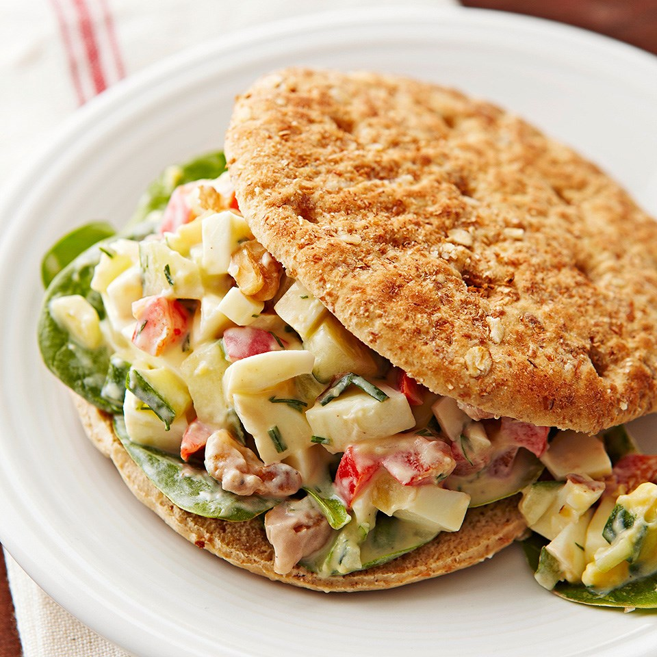 Crunchy Egg Salad Sandwiches