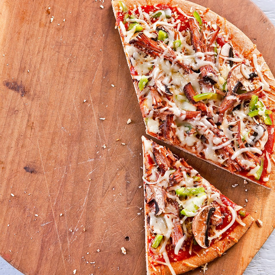 Beef-Mushroom Pizza