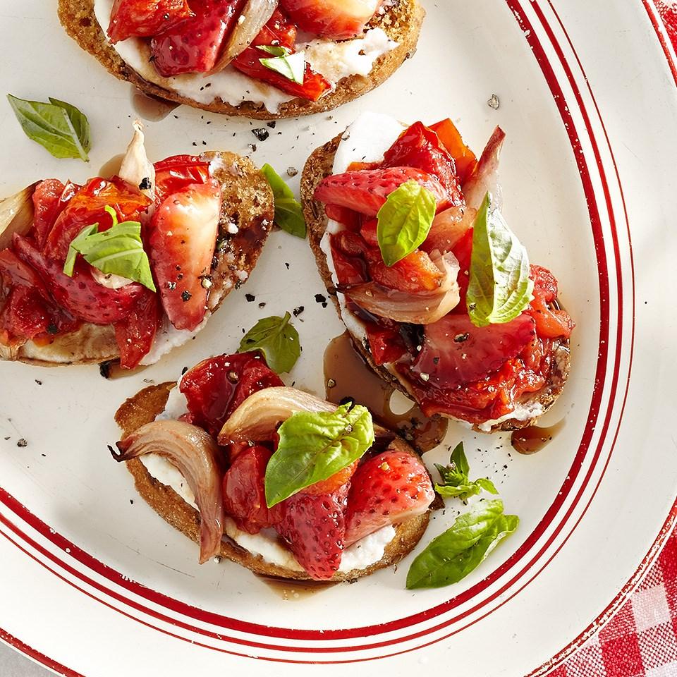 Roasted Tomato and Ricotta Bruschetta